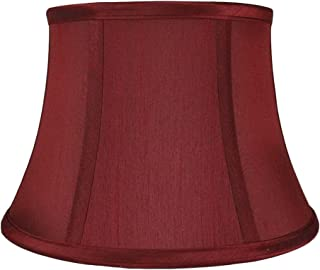 Urbanest Softback 7-inch by 10-inch by 7-inch Faux Silk Bell Lamp Shade, Burgundy, Spider Washer Fitter