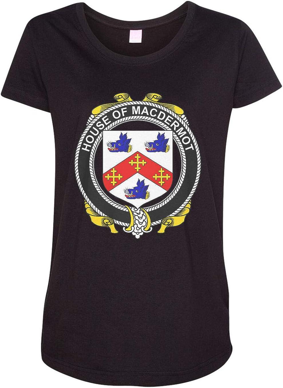 HARD EDGE DESIGN Women's Irish House Heraldry Macdermot T-Shirt