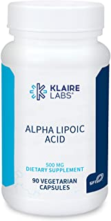 Klaire Labs Alpha-Lipoic Acid 500mg - ALA Supplement - Antioxidant, Cardiovascular, Liver & Detox Support - Soy-Free, Yeas...