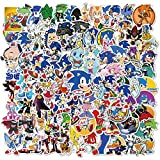 50pcs Sonic Games Vinyls Stickers Laptop Sticker Waterproof Stickers Luggage Skateboard Water Bottle Stickers Decal Bicycle Bumper Snowboard Decorate Gift for Kid. (Sonic)