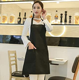 S1F2 Waterproof Apron Restaurant Kitchen Anti-fouling Apron Adult Sleeveless Apron Adjustable Polyester Apron 2pcs S1F2 (Color : Orange)