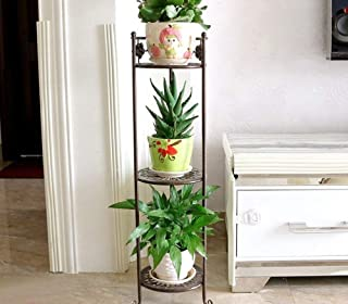 HTTSC Creative Flower Stand.Eisenblumenstandplatzmehrschichtiger Balcony Inside Living Pot Rack (Color : Chocolite Color)