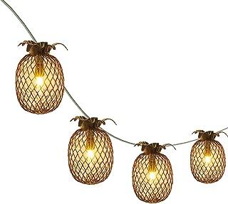 LIDORE Pineapple Lantern String Lights Best for Indoor/Outdoor Decoration Set of 10 Warm White Mini Light.