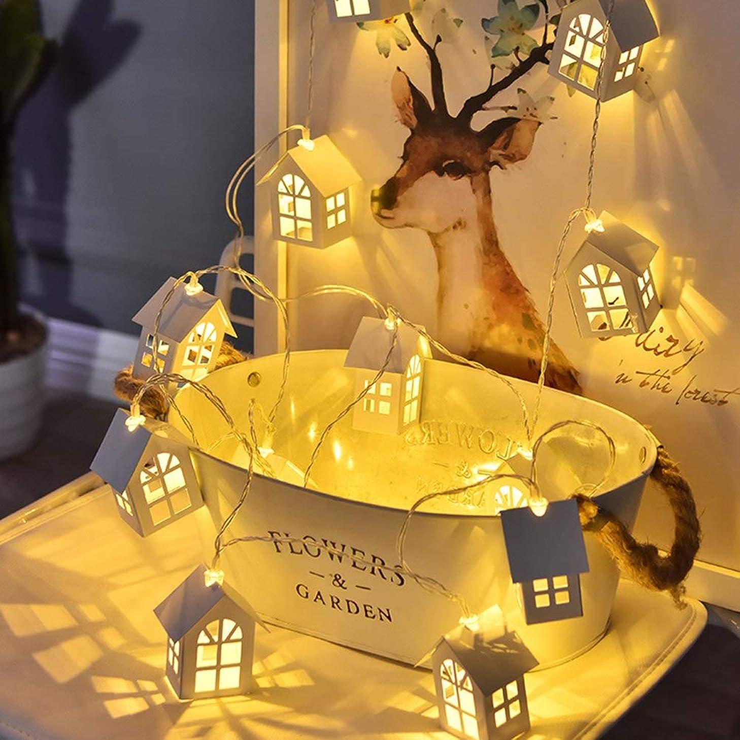 掘る踊り子発症Messagee クリスマスツリー飾り LED ライト ハウス 木製 シャレー USB/電池式 クリスマスオーナメント 飾り付け ホテル バー 部屋 お庭 雰囲気 結婚式 クリスマス 新年 パーティー