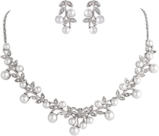 Best cheap pearl necklace and earring set Reviews