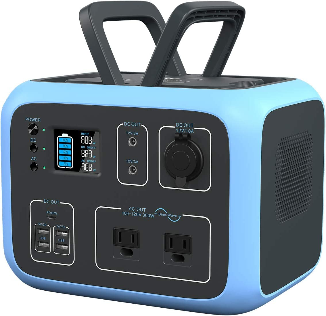 Buy MAXOAK Portable Power Station 500Wh BLUETTI AC50S Solar Generator  Lithium Battery Backup for Outdoor Camping Van Trip (Regulated  12V,MPPT,Wireless Charging,PD 45W USB-C,,2AC Pure Sine-Wave Outlets) Online  in Indonesia. B08L91TTC9