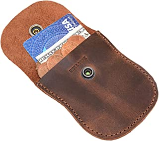 Hide & Drink, Leather Coin Pouch/Cash/Case/Wallet/Holder/Organizer/Accessories, Handmade Includes 101 Year Warranty :: Bourbon Brown