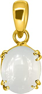SUPERGEMS Certified 12.25 CaratSPECIAL Quality Moonstone Pendant/Locket Gold PLATED Gemstone By Lab Certified(Top AAA+) Qu...