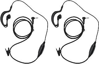abcGoodefg G Shape Headset Earpiece Mic for Motorola Talkabout MD200TPR MH230R MR350R MS350R MT350R T200 T260 T460 T600 2 Two Way Radio Walkie Talkie 1 Pin 2-Pack