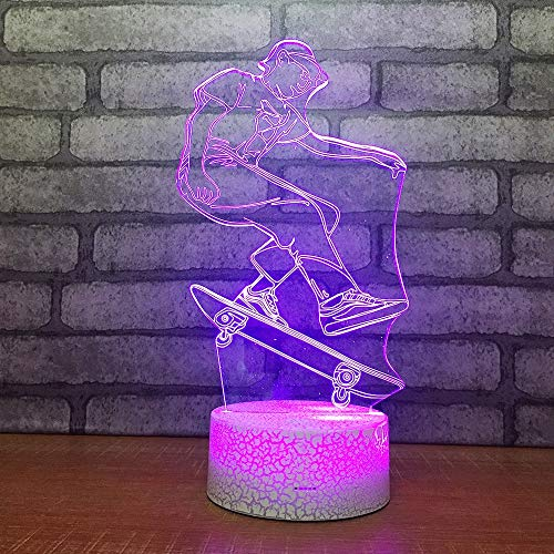 LIkaxyd 3D Optical Illusion Lamp Creative Gift Led Desk Table Lamp 7 Color Touch Lamp Home Bedroom Office Decor for Kids Birthday Christmas Gift