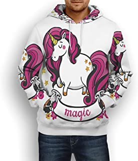 Unisex Fashion 3D Digital Printed Pullover Hoodies,Unicorn Cat,