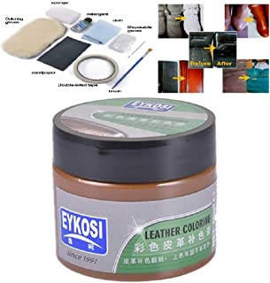Leather Recoloring Balm - Renew, Restore & Repair Color to Faded and Scratched Leather   Works on Couches, Car Seats, Clothing & Purses (Coffee)