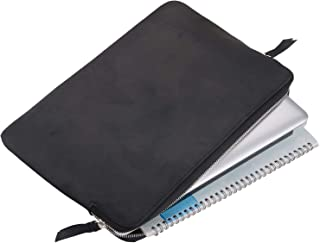 Personalized Leather Laptop Sleeve 13-14 inch, Laptop Sleeve Case with Zipper for 13.5
