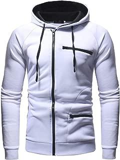 Zackate Mens Autumn Casual Long Sleeve Hoodies Sweatshirt Slim Fit Jacket Tracksuit Top Outwear