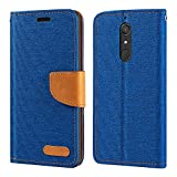 Wiko View XL Case, Oxford Leather Wallet Case with Soft TPU