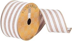 """Vickerman Ribbon, 2.5"""", White"""