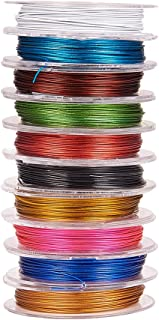 Pandahall 10 Rolls 0.45mm Mixed Color Beading Wire Steel Tiger Tail, about 10m/roll