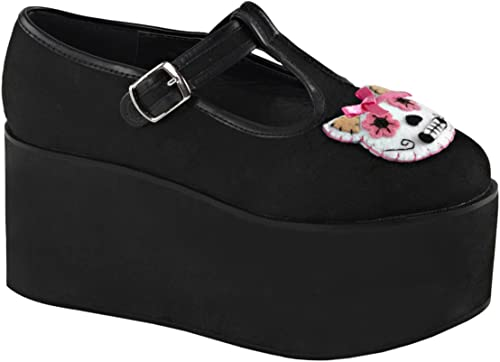 Demonia CLICK-04-1 Blk Canvas UK 5 (EU 38)