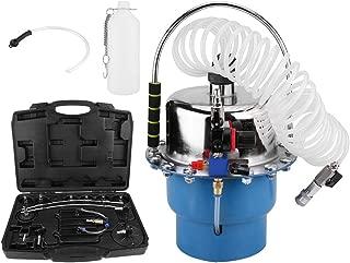 Qiilu Pneumatic Air Pressure Bleeder Tool Set Brake and Clutch Bleeder Valve System Kit w/Case