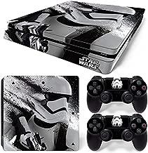 ZoomHit Ps4 Slim Playstation 4 Slim Console Skin Decal Sticker Star Wars Stormtrooper + 2 Controller Skins Set (Slim Only)