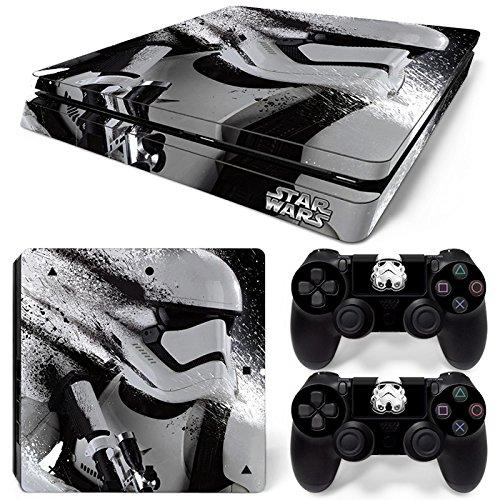 46 North Design PS4 Slim Vinl Decal - Adhesivo Decorativo para Playstation 4, Consola + 2 mandos Dualshock