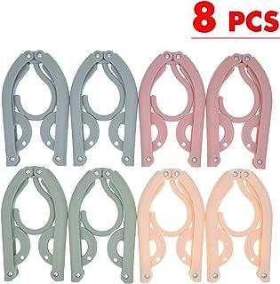 Travel Hangers,8 PCS Folding Hanger Travel Accessories,Travel Hangers Foldable,Portable Foldable Clothes Drying Rack for Travel Outdoor
