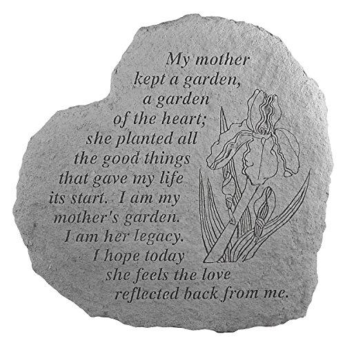 Design Toscano Mother's Garden: Cast Stone Memorial Garden Marker