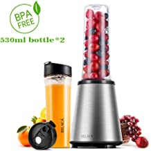 Smoothie Blender, BILACA Personal Blender Single Serve for Shakes and Smoothies,Frozen Fruit Blender With 18oz BPA-Free Sport Bottles,300W