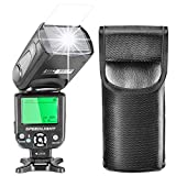 Neewer i-TTL Speedlite Flash with LCD Display, Hard Diffuser and Protecting Bag