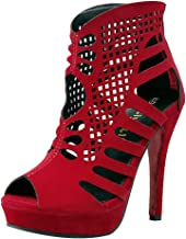 Woman Roman Hollow Peep Toe Stiletto Zip High Heel Shoes Retro Non Slip Wedged Beach Sandals Party Boots Shoes