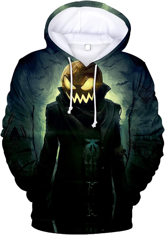 Bravetoshop Men's Novelty 3D Printed Pullover Hoodies Graphic Fleece Pocket Fashion Tracksuit Sweatshirt Outerwear