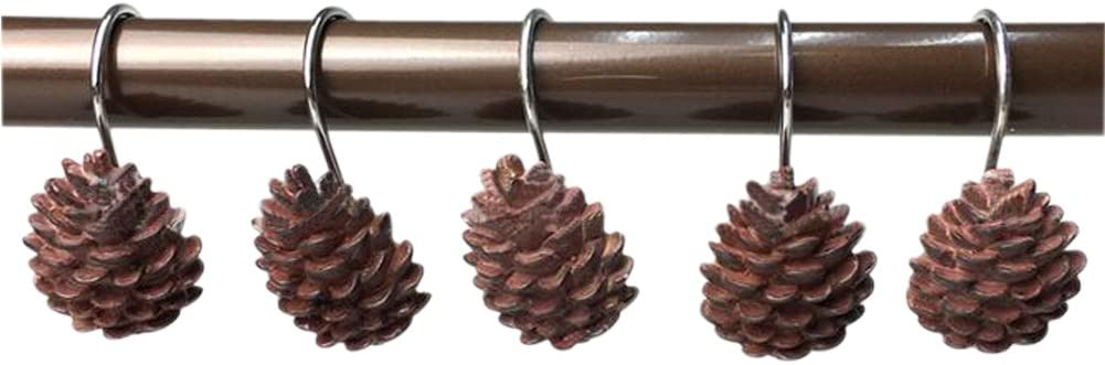 Grace life Set of 12 Pinecone Roll Curtain Bathroom Direct store Shower Gifts Hooks