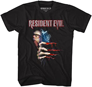 تي شيرت للكبار مطبوع عليه فيلم Resident Evil Horror Video Game 20Th Anniversary Zombies أسود