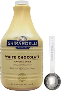 Ghirardelli - White Chocolate Flavored Sauce, 89.4 Ounce Bottle - with Limited Edition Measuring Spoon