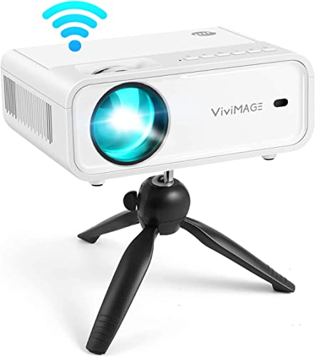 VIVIMAGE Explore 2 WiFi Mini Projector 6500L Movie Projector with Synchronize Smartphone Screen, 1080P Supported Comp...