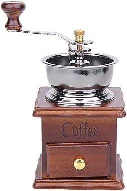 Manual Coffee Bean Grinder Retro Wood Design Mill Maker Grinders