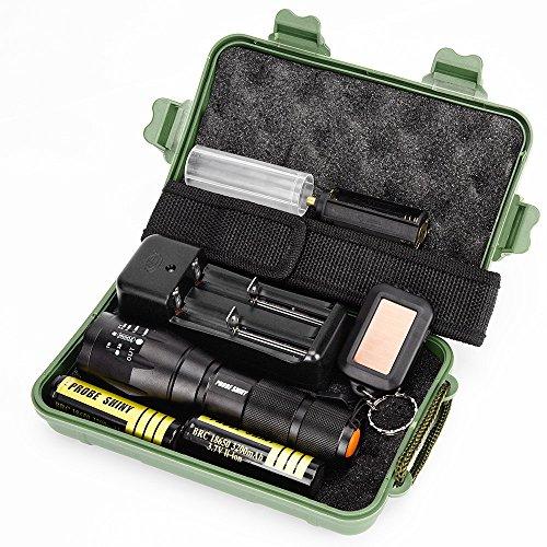 Probe shinyg700X800Militärische LED Zoom Taschenlampe Taktik-Grade die Fackel, schwarz