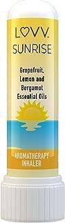SUNRISE Portable Aromatherapy Nasal Inhaler - Uplifting, Energizing Blend of Grapefruit, Lemon & Bergamot Essential Oils - Personal Mini Travel Diffuser