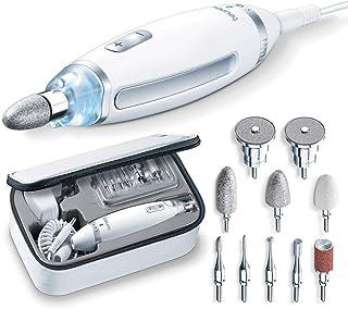 Beurer MP62 manicure-/pedicureset, met 10 opzetstukken, ledlicht, inclusief opbergtas, wit