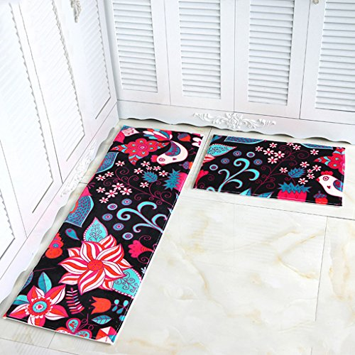 Xuan - Worth Having Tapis The Door Hall Tapis de Porte Ottomans de Cuisine Salle de Bain Tapis antidérapant Longs Bandes Absorption d'eau Tapis de Toilette ménager Tapis de Terre