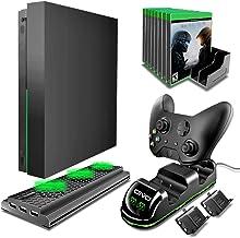 Kit de Acessórios Xbox One X 4 em 1 com Suporte Vertical Ventilação e Carregamento 2 Controles - Oivo