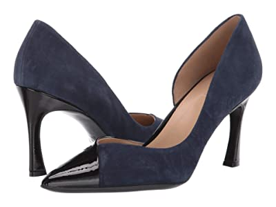 Naturalizer Audra (Navy Suede/Black Patent Leather) Women
