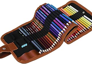 48 Pcs Colored Pencils Set Vivid Watercolor Pencils Set with Portable Roll-Up Canvas Carry Case Best Gift