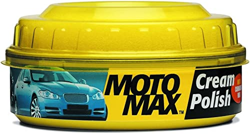 Motomax Bike & Car Cream Polish with Carnuba Wax and Micro Polishing Agents, (230gm)