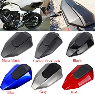 XX eCommerce Motorcycle Motorbike Pillion Rear Solo Seat Cover Cowl For 2013-2016 Yamaha FZ07 MT07 2014 2015 (Red)