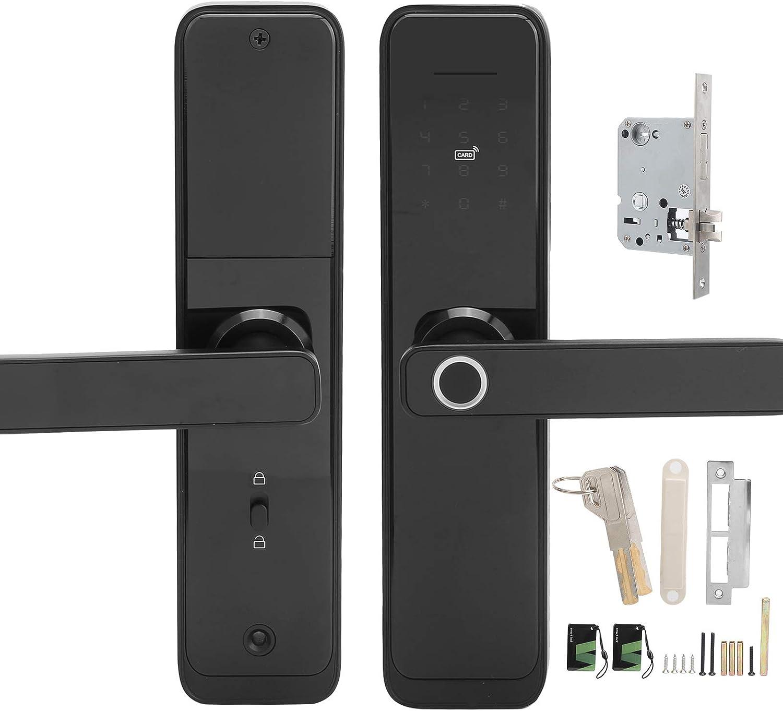 Soldering Max 90% OFF Smart Lock Door Handle High Intelligence Artificial Recogni