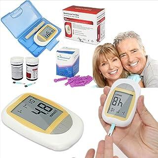 Fall Medidor de glucosa en Sangre, Diabetes Testing Kit, medidor de glucosa en Sangre con 50 Tiras de Prueba codefree, 50 lancetas, Dispositivo de punción