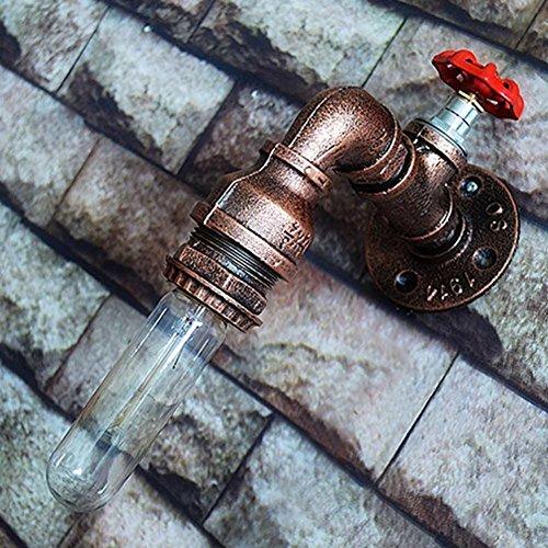 NIHE E27 Tubes d'eau appliques murales Vintage Iron American Single Head Faucet Lampe murale Loft Study Foyer Salle à manger Applique murale