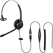 $29 » Sponsored Ad - SinsengCiscoPhonesHeadset with rj9, Office Phone Headset with Noise canceling Microphone for Desk Phone...