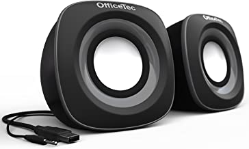 OfficeTec USB Computer Speakers Compact 2.0 System for Mac and PC (Gray)